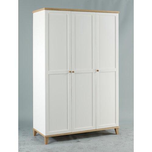 All Home Chicago Three Door Wardrobe in White