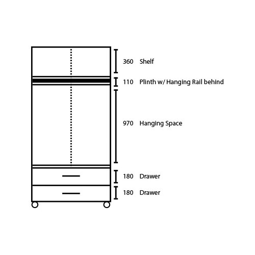Home Etc Regal 4 Door Wardrobe with 4 drawers and 2 Mirrors