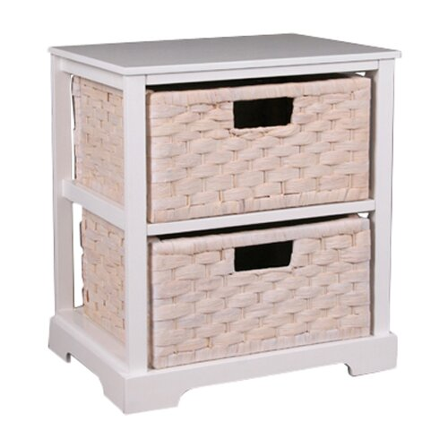 With Its White Finish And Three Linen Lined Basket Drawers