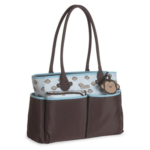 Carter's Monkey Luggage Tag Tote Diaper Bag