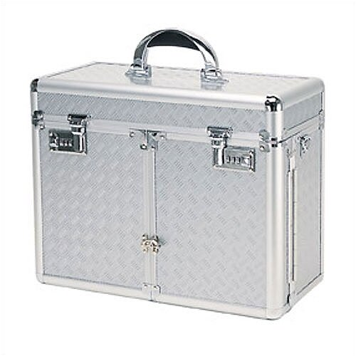 TZ Case Beauty Case with 2 Extendable Trays & Lid Brush Or Pencil Pockets