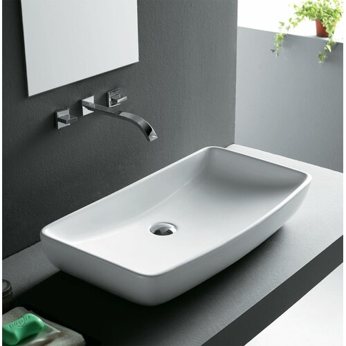China Sink : ... Rectangular Vitreous China Vessel Bathroom Sink & Reviews Wayfair