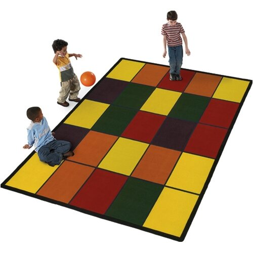 Flagship Carpets Educational Grid Kids Rug