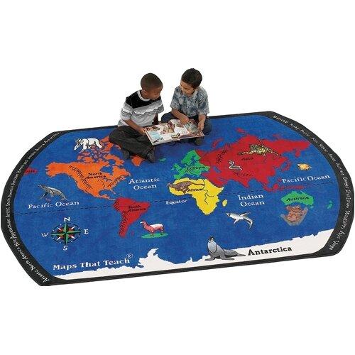 Flagship Carpets Educational Maps That Teach Kids Rug