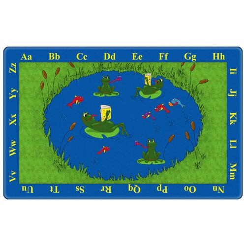 Flagship Carpets Educational Animal Frogs Kids Rug