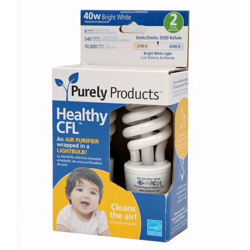 9W CFL Light Bulb (Set of 2)