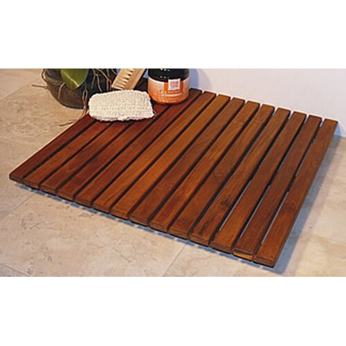 "Infinita Corporation Le Spa 24"" Square Teak Floor and Shower Tile in Oiled Finish"