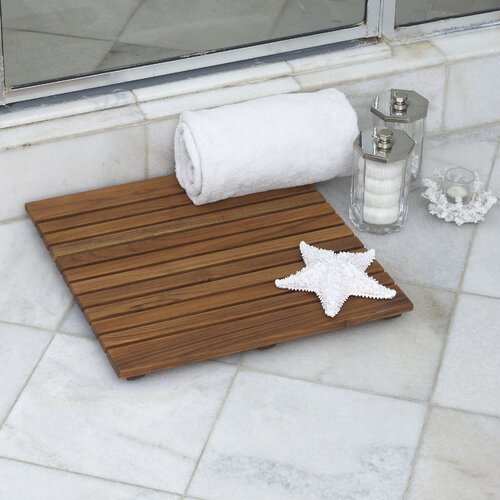 "Infinita Corporation Le Spa 19.7"" Square Teak Floor and Shower Tile in Oiled Finish"