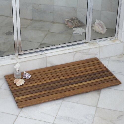 Infinita Corporation Le Spa Rectangular Teak Shower Floor And Tile In Oiled Finish Reviews