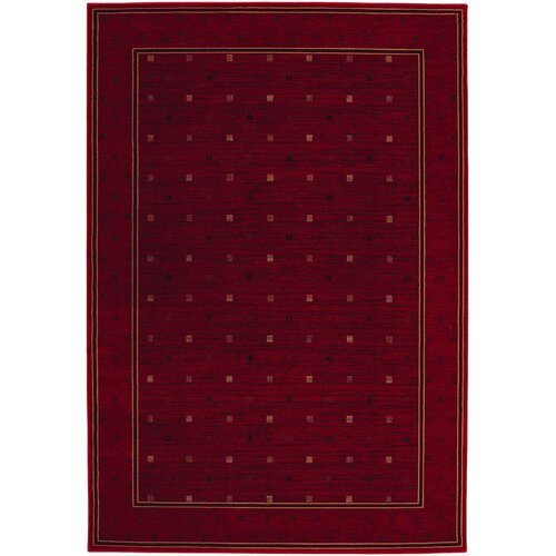 Everest Gridiron Crimson Rug