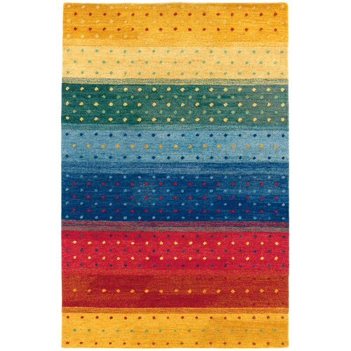 Oasis Rainbow Multi Color Striped Rug