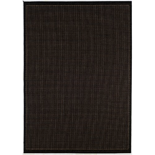 Couristan Recife Saddle Stitch Black Cocoa Indoor/Outdoor Rug
