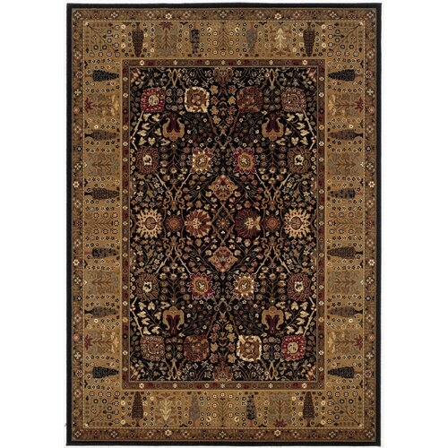 Couristan Royal Kashimar Cypress Garden Black/Deep Maple Rug