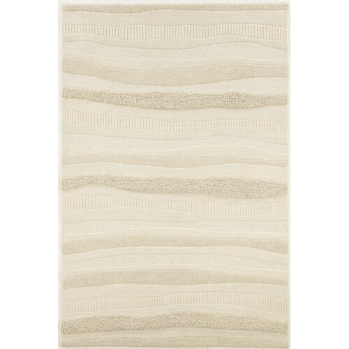 Super Indo-Natural Impressions White Stripe Rug