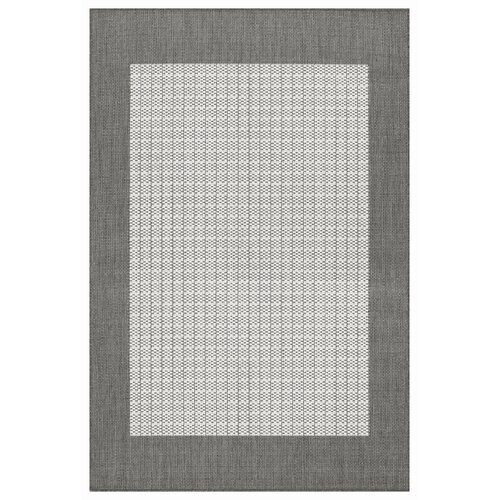 Couristan Recife Checkered Field Grey/White Indoor/Outdoor Rug