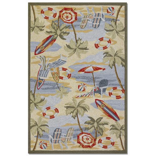Couristan Outdoor Escapes Cocoa Beach Novelty Rug