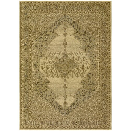 Couristan Timeless Treasures Antique Cream Diamond Sarouk Rug