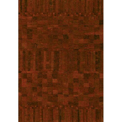 Easton Poppy Red Crushed Velvet Rug