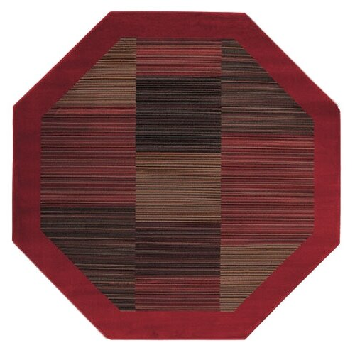 Couristan Everest Hamptons Red Octagon Rug