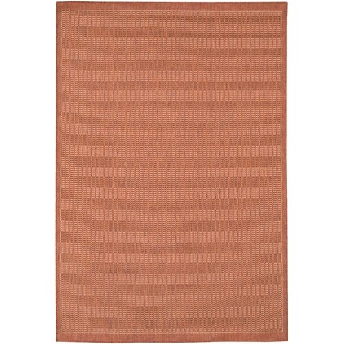 Couristan Recife Saddle Stitch/TerracottaNatural Indoor/Outdoor Rug