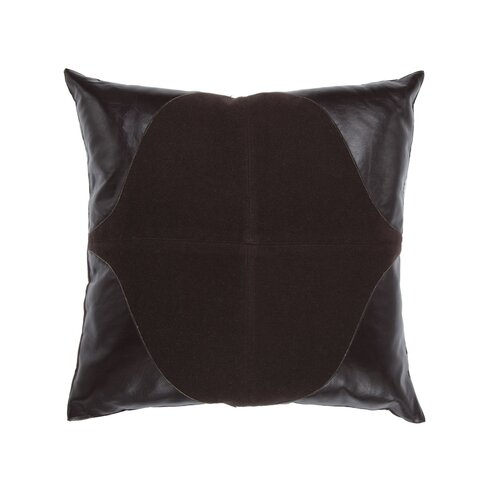 Leather Suede Square Pillow