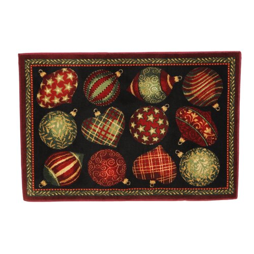 Shaw Rugs Home for the Holidays Ornaments Novelty Rug