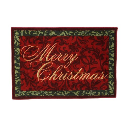 Shaw Rugs Home for the Holidays Merry Christmas Novelty Rug