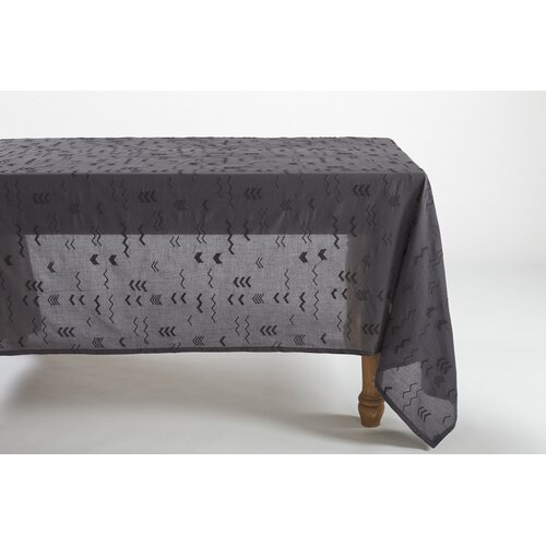 Abstract Embroidered Voile Tablecloth