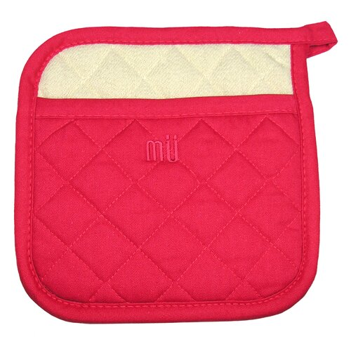 "MU Kitchen MUincotton 9"" Potholder in Crimson"