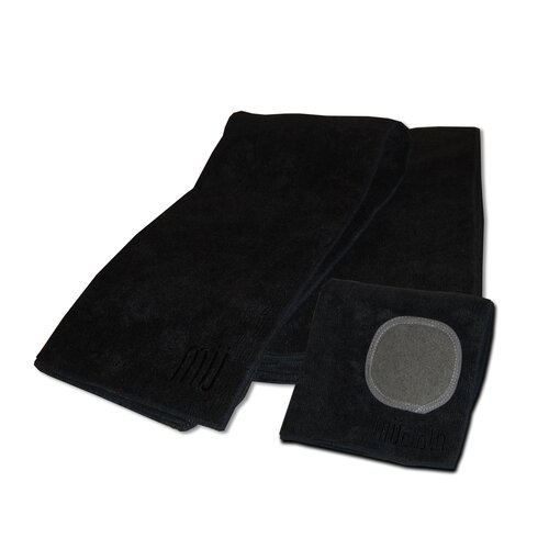 MUmodern Dishcloth and Dishtowel Set in Onyx