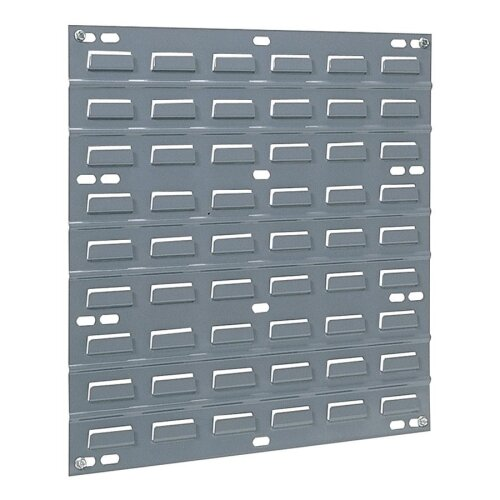 "Akro-Mils Louvered Panel, Wall Mountable, 1""x18""x19"", Gray"