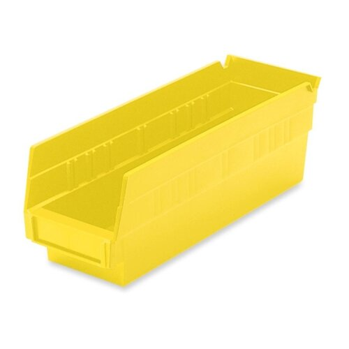 Akro-Mils Shelf Bin, Grease/Oil Resistant, Yellow, Various Sizes