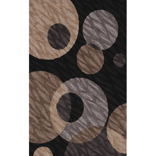 Dalyn Rug Co. Studio Black Circle Rug