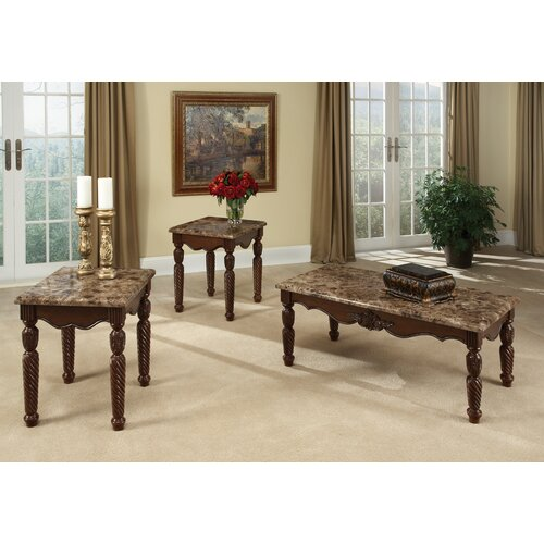 Buckingham 3 Piece Coffee Table Set