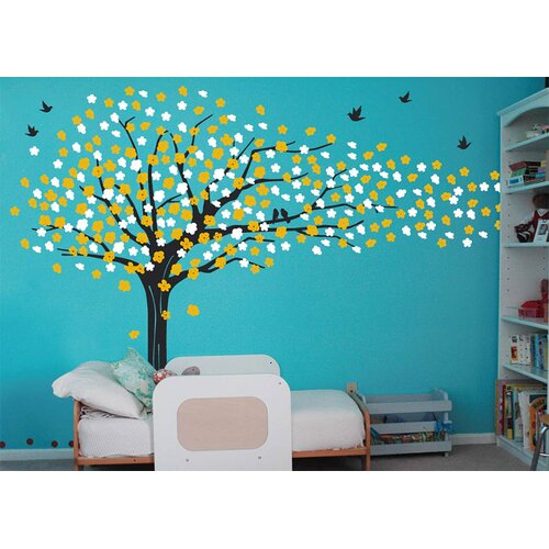 Pop Decors Sakura Tree Removable Vinyl Art Wall Decal