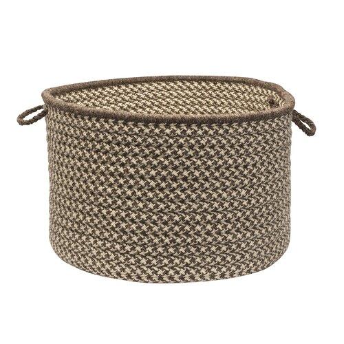 Colonial Mills Natural Wool Houndstooth Storage Basket