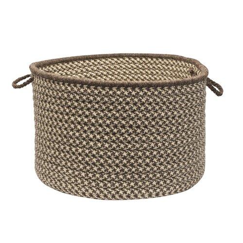 Colonial Mills Natural Wool Houndstooth Storage Basket