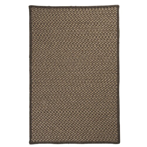 Colonial Mills Natural Wool Houndstooth Caramel Braided Rug