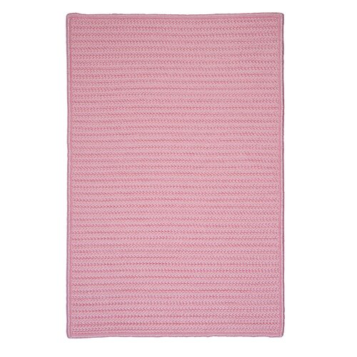 Colonial Mills Simply Home Solid Light Pink Indoor/Outdoor Rug