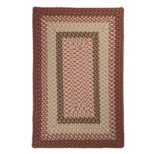 Colonial Mills Tiburon Rusted Rose Braided Indoor/Outdoor Rug