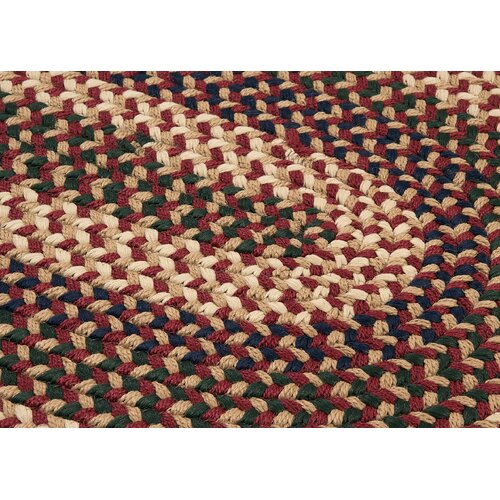 Colonial Mills Brook Farm Burgundy Indoor/Outdoor Rug