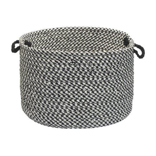 Outdoor Houndstooth Tweed Utility Basket