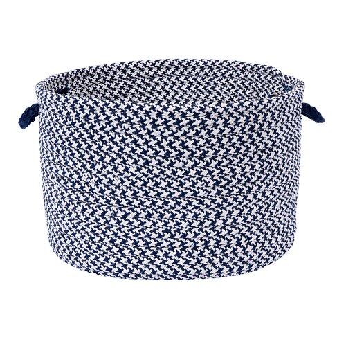 Outdoor Houndstooth Tweed Storage Basket