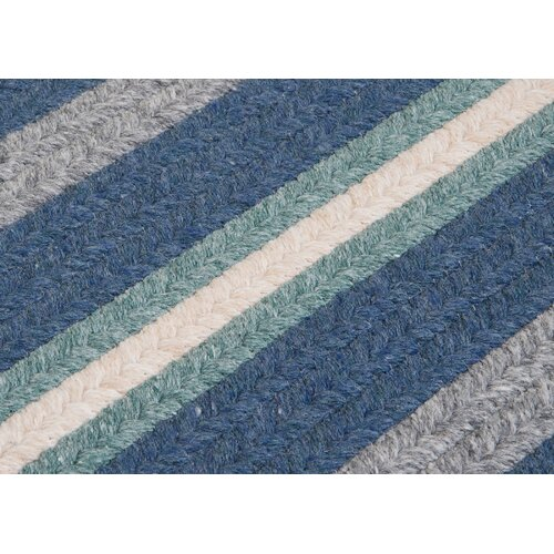 Colonial Mills Salisbury Blue Striped Sample Swatch