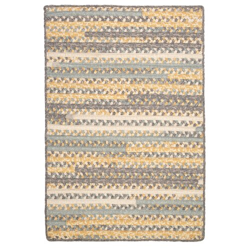 Print Party Rects Yellow Rug