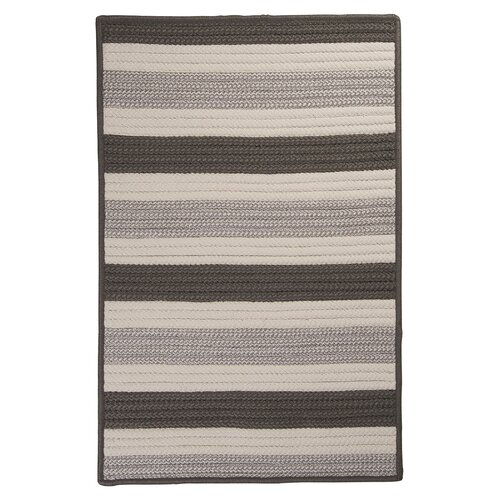Colonial Mills Stripe It Silver Indoor/Outdoor Rug