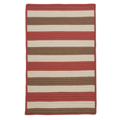 Colonial Mills Stripe It Terracotta Indoor/Outdoor Rug