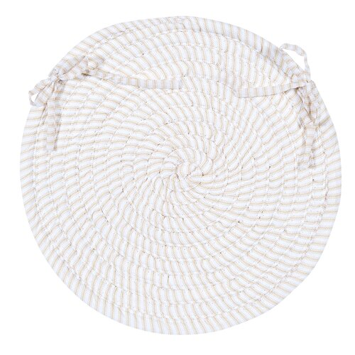 Ticking Stripe Oval Chair Pad (Set of 4)