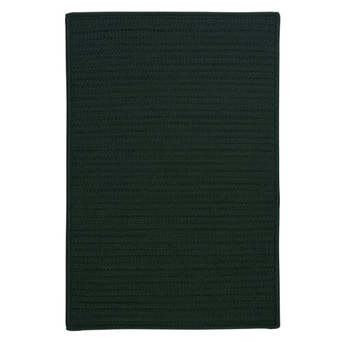 Simply Home Solid Dark Green Indoor/Outdoor Rug