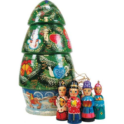 Russia X-Mas Tree Ornament Doll